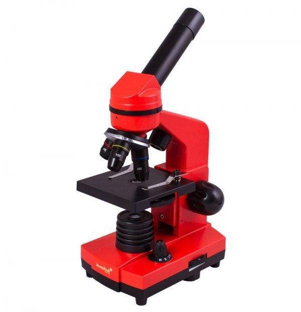Levenhuk Rainbow 2L lasten mikroskooppi, punainen | Kamavaja.fi Verkkokauppa