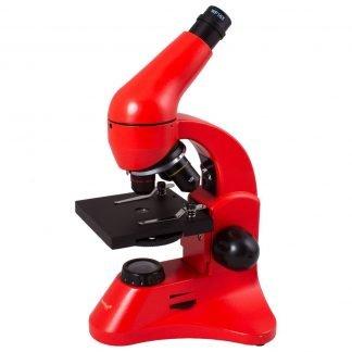 Levenhuk Rainbow 50L PLUS mikroskooppi, punainen | Kamavaja.fi Verkkokauppa