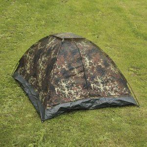 Mil-Tec Iglu Standard 3 hengen teltta, flecktarn | Kamavaja.fi verkkokauppa