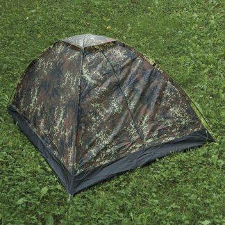 Mil-Tec Iglu super 2 hengen teltta, flecktarn | Kamavaja.fi verkkokauppa