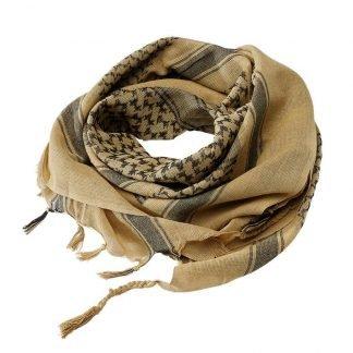 Brandit Shemagh-huivi, khaki/musta | Kamavaja.fi verkkokauppa