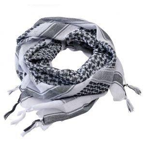 Brandit Shemagh-huivi, valkoinen/musta | Kamavaja.fi verkkokauppa