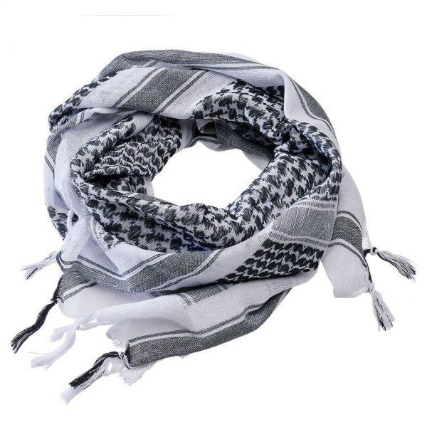 Brandit Shemagh-huivi, valkoinen/musta   Kamavaja.fi verkkokauppa