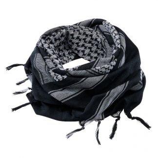 Brandit Shemagh-huivi, musta/valkoinen | Kamavaja.fi verkkokauppa