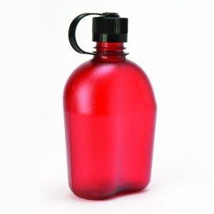Nalgene Oasis juomapullo 1 l, punainen | Kamavaja.fi verkkokauppa