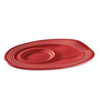Rutista mua cappucino aluslautanen, punainen | Kamavaja.fi verkkokauppa