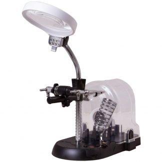 Levenhuk Zeno Multi ML17 pöytämallinen suurennuslasi - mukana vaihdettavat linssit, LED-valo