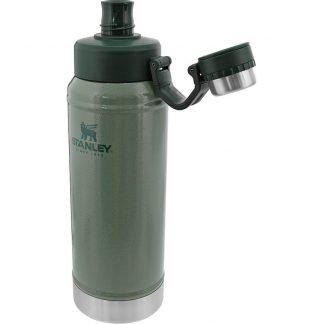 Stanley Easy-Clean vesipullo 1L vihreä Kestävä 1 litran juomapullo kylmille nesteille pitää juoman kylmänä 13 tuntia. Korkki kiinni kannessa.