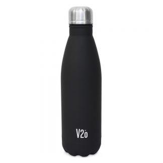 V2O teräksinen juomapullo, musta - Kamavaja | Kamavaja.fi verkkokauppa