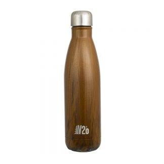 V2o teräksinen juomapullo Wood - Kamavaja
