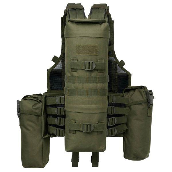 Brandit Tactical Vest oliivi taktinen liivi takaa