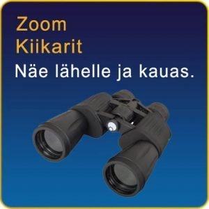Zoomilla varustetut kiikarit