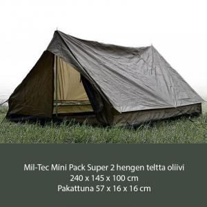 Mil-Tec Mini Pack Super 2 hengen teltta oliivi